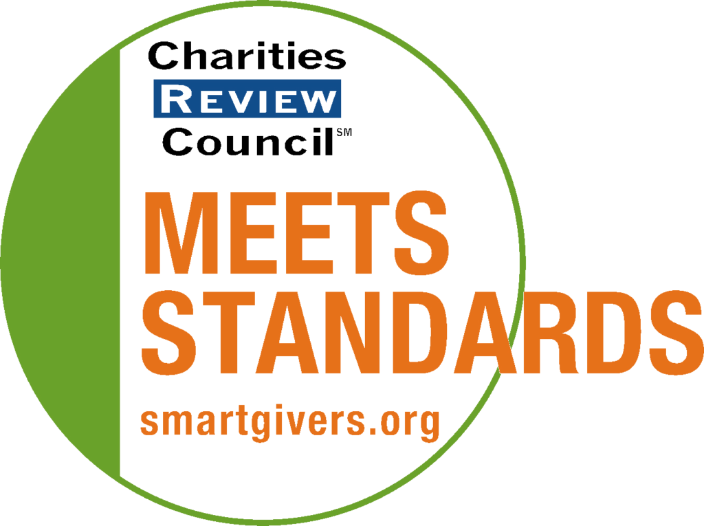 """Charities Review Council """"Meets Standards"""""""