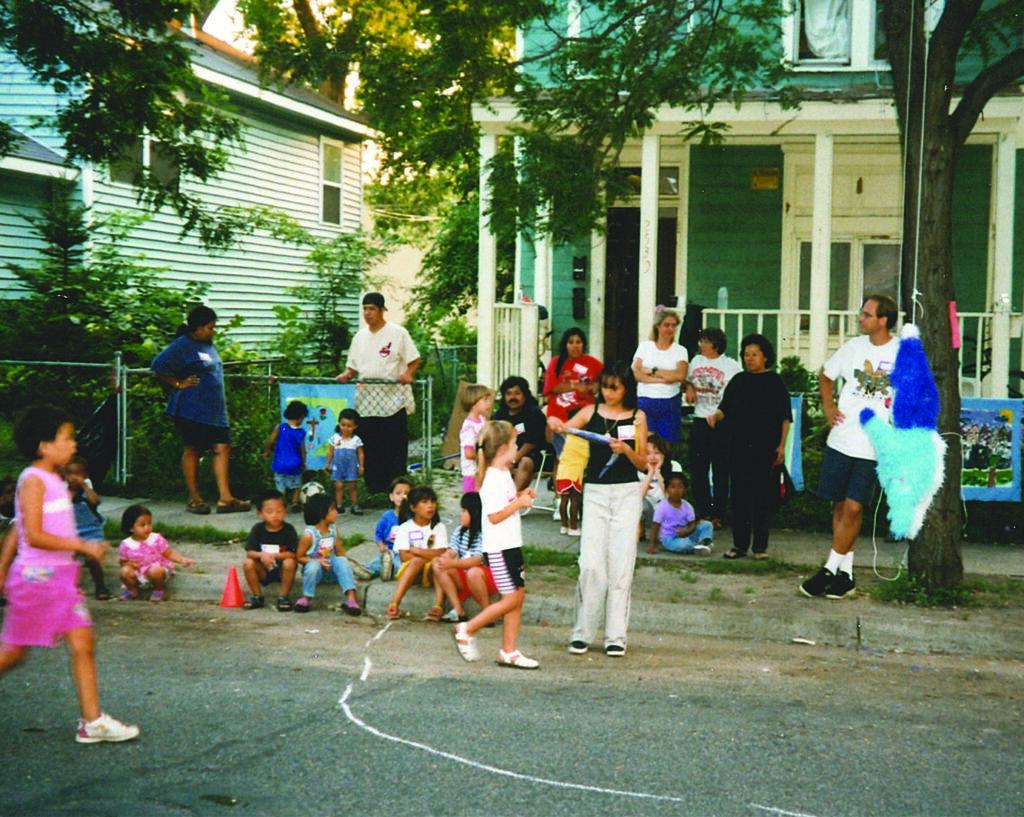 Black club gathering in the phillips neighborhood taken in 1992