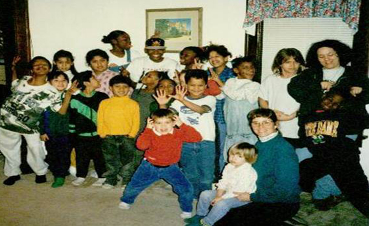 First Banyan Community kids club picture taken in 1997