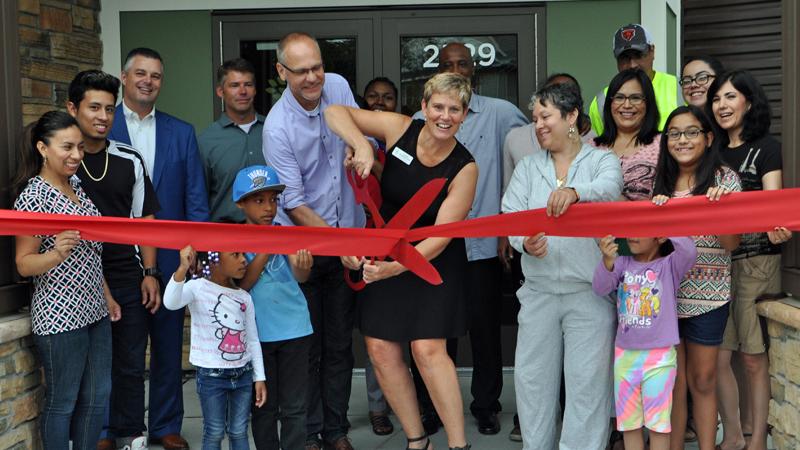 Banyan Community ribbon cutting at grand opening of new facility in Minneapolis
