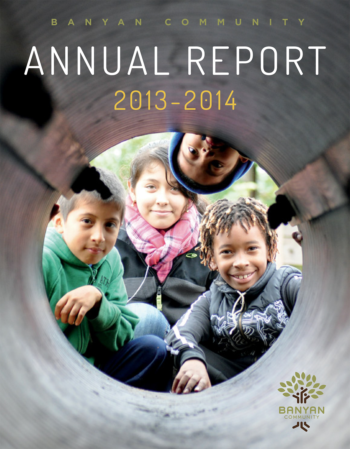 Banyan Community's 2013-2014 annual report cover