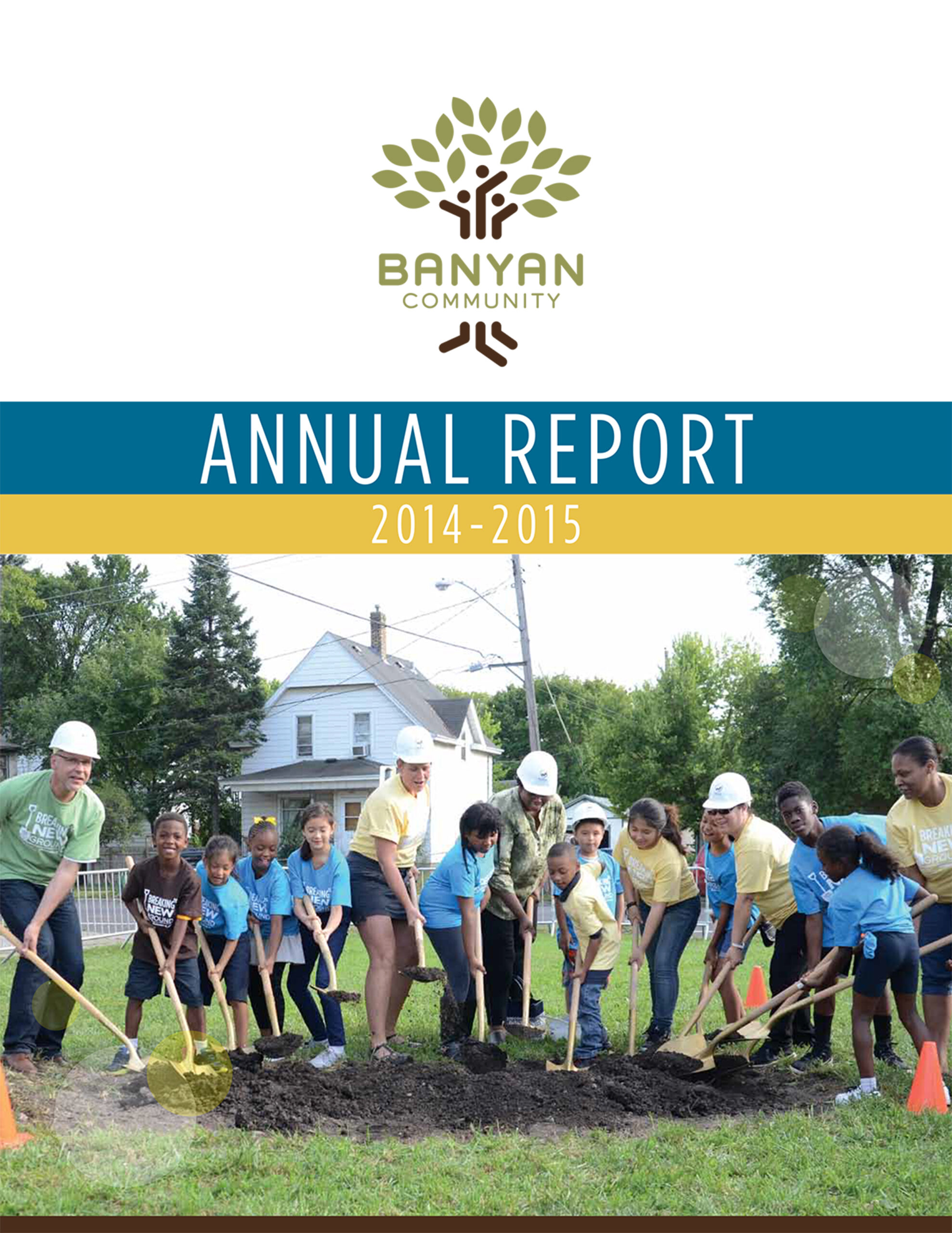 Banyan Community's 2014-2015 annual report cover
