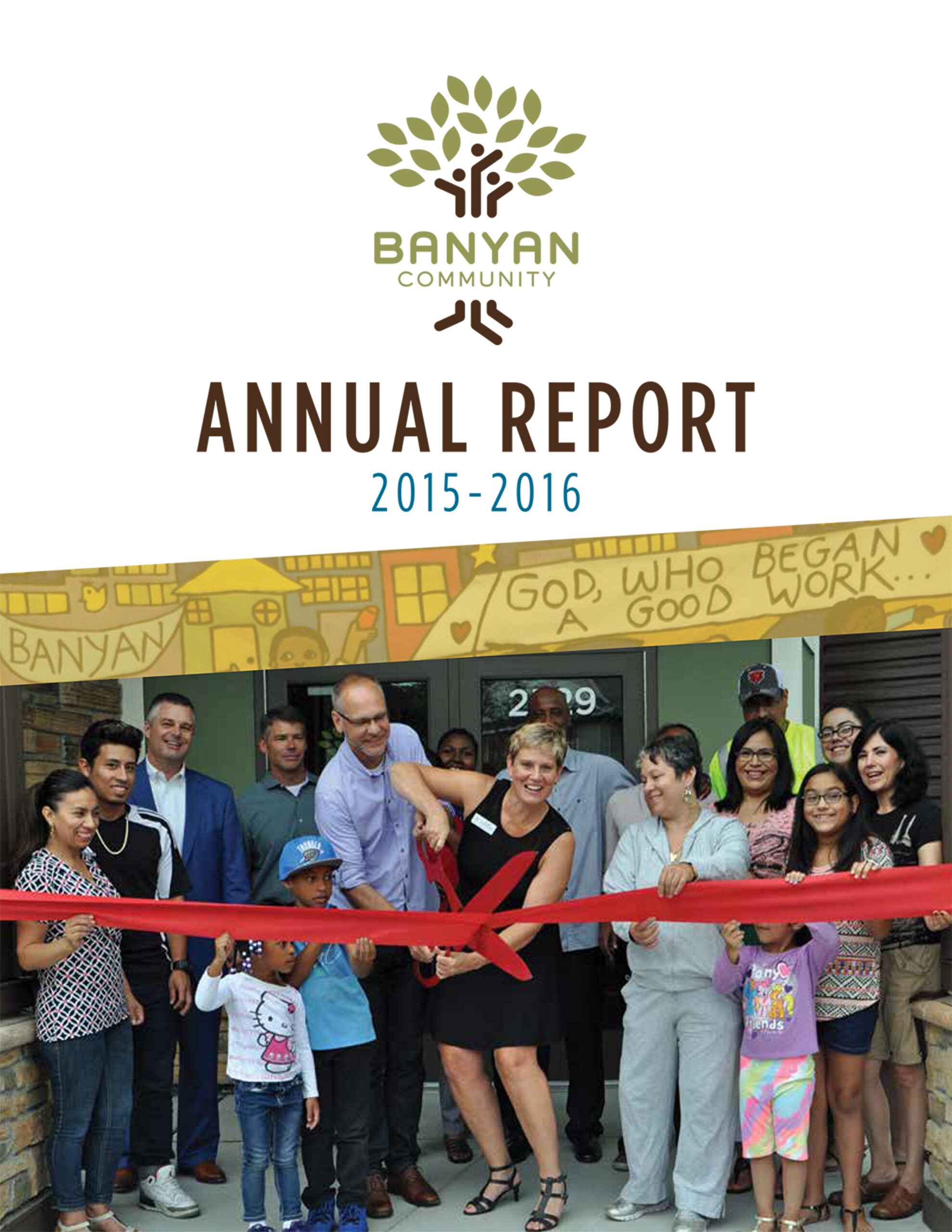Banyan Community's 2015-2016 annual report cover