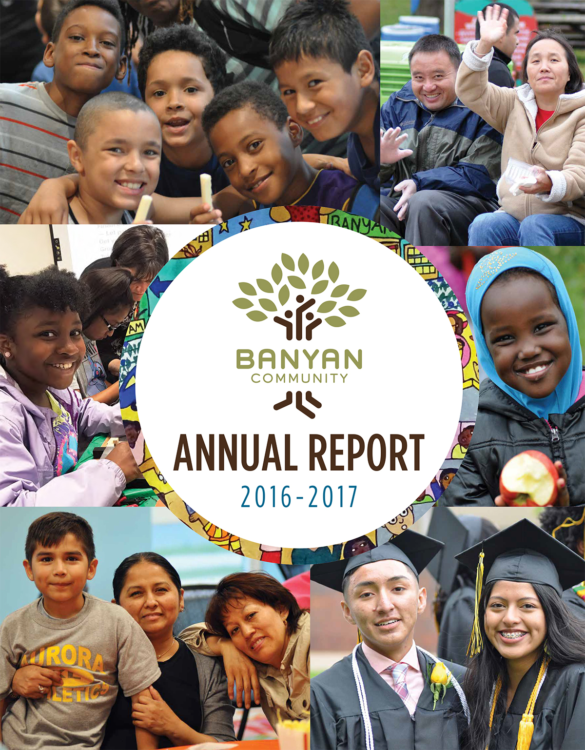 Banyan Community's 2016-2017 annual report cover
