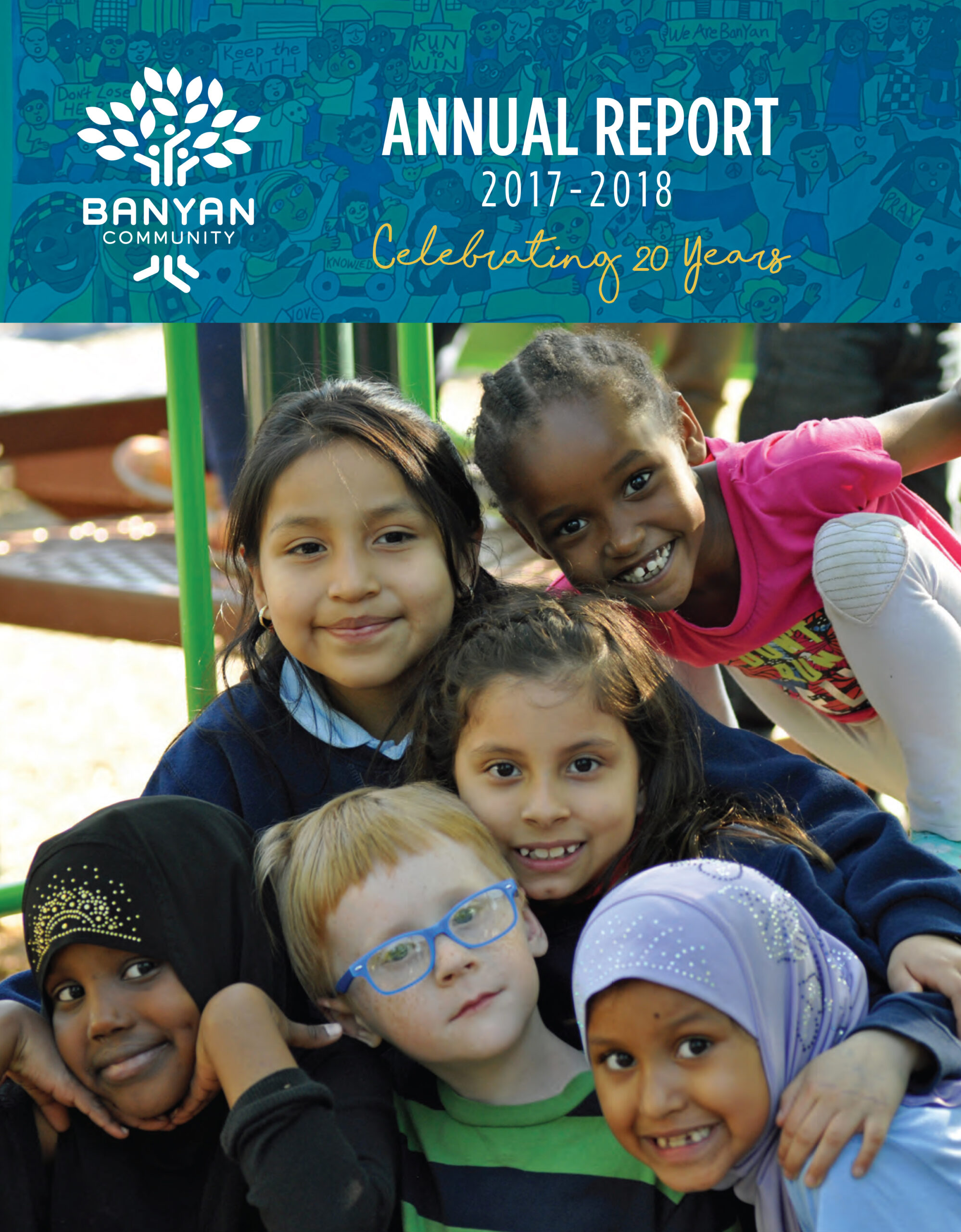 Banyan Community's 2017-2018 annual report cover