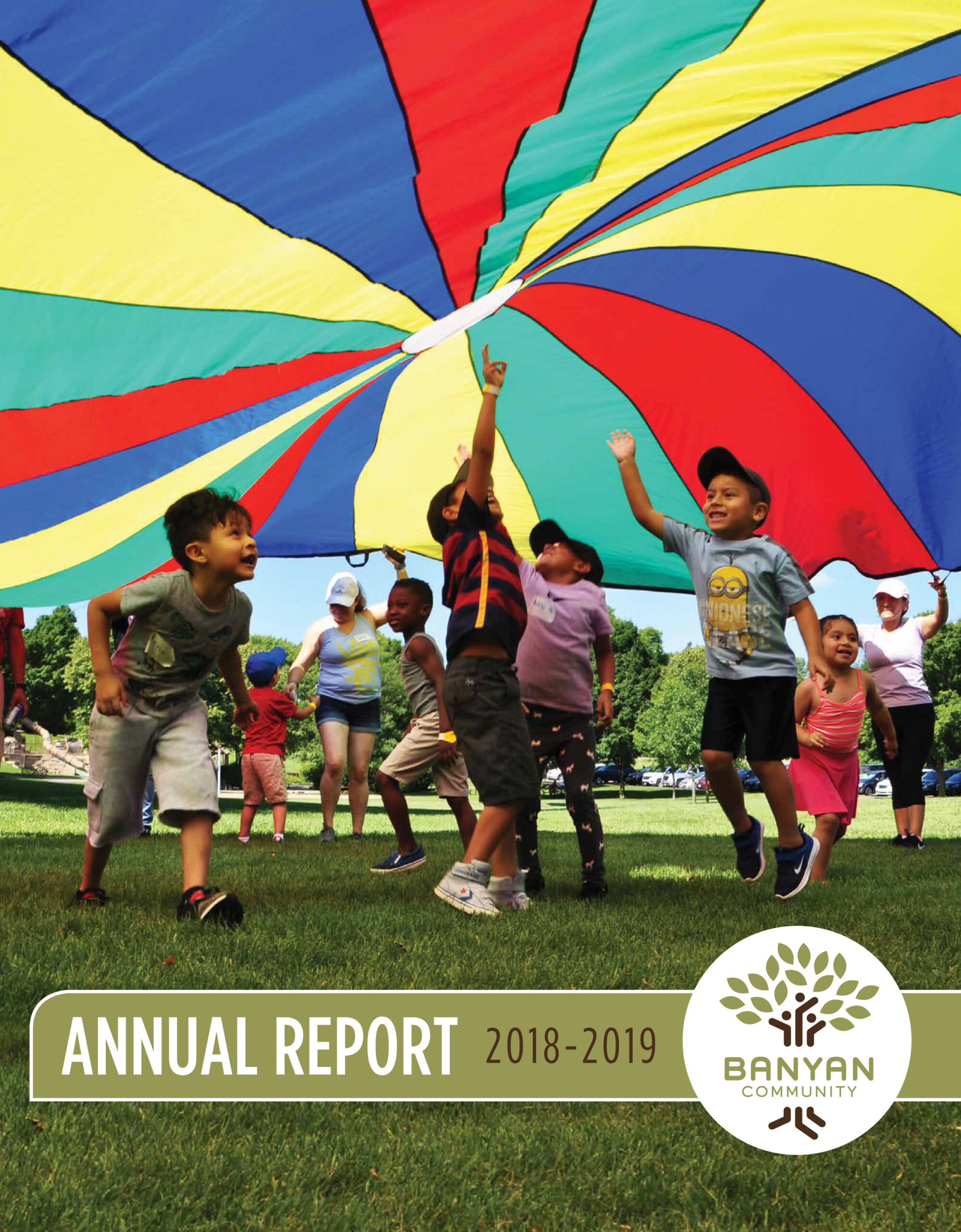 Banyan Community's 2018-2019 annual report cover